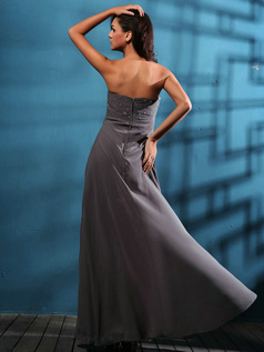 Bravo Sheath/Column Chiffon Floor-length Sequin Prom/Evening Dresses