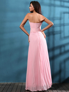 Adorable A-line Chiffon Floor-length Draped Evening Dresses