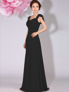 Gorgeous A-Line Sweetheart Draped Black Bridesmaid Dresses