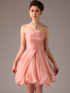 Appealing A-Line Tube Top Strapless Bridesmaid Dresses