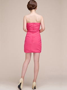 Appealing Sheath/Column Tube Top Strapless Sashes/Ribbons Bridesmaid Dresses