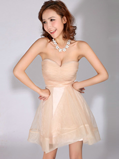 Beautiful A-Line Sweetheart Strapless Bridesmaid Dresses