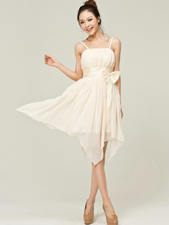 Lovely A-Line Spaghetti Straps Straps Bowknot Bridesmaid Dresses