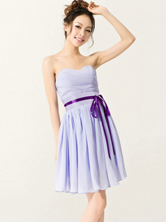 Lovely A-Line Sweetheart Strapless Sashes/Ribbons Bridesmaid Dresses