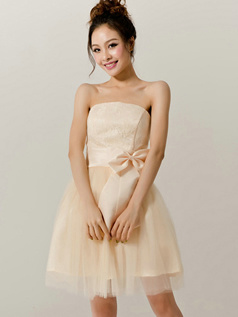 Surpassingly Beautiful A-Line Tube Top Strapless Bowknot Bridesmaid Dresses