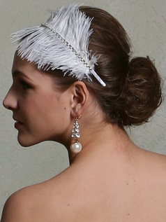 Soft Feather Headband Headpiece