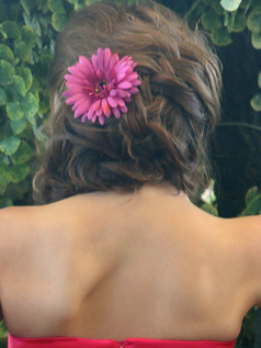 Beautiful Fuchsia Chrysanthemum Hairpin Headpiece