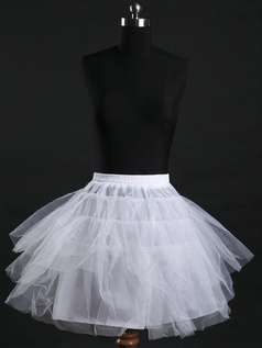 Nylon A-Line Half 3 Tiers Short Wedding Petticoat
