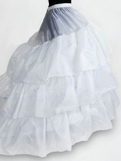 Nylon Chapel Train 3 Tiers Floor-length Wedding Petticoat