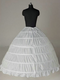 Nylon Ball Gown Full Gown 1 Tier Floor-length Wedding Petticoat