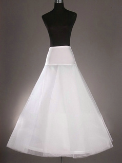 Nylon A-Line 2 Tiers Floor-length Wedding Petticoat