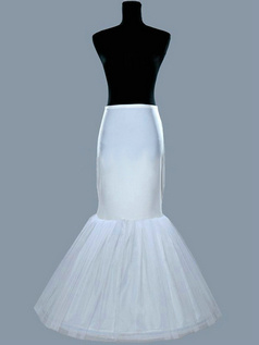 Nylon Mermaid 1 Tier Floor-length Wedding Petticoat