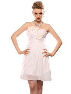 Outstanding A-line Chiffon Short/Mini Flower Sweet 16/Homecoming Dresses Size 2 And Size 4