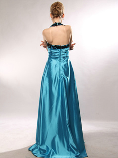 Outstanding Sheath/Column Halter Sweep Split Front Evening/Prom Dresses Size 2 And Size 4