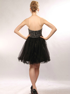 Glamorous A-line Tulle Short/Mini Sequin Cocktail/Homecoming Dresses