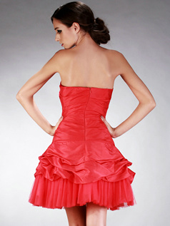 Wonderful Princess Taffeta Short/Mini Appliques Prom/Homecoming Dresses