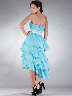Glamorous Princess Chiffon Asymmetrical Ruffle Prom/Cocktail Dresses