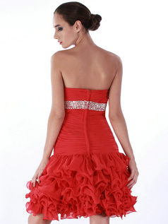 Amazing A-line Chiffon Knee-length Bowknot Cocktail/Homecoming Dresses