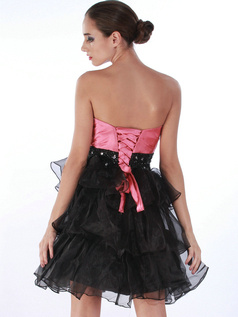 Marvelous Princess Organza Tube Top Tiered Cocktail/Prom Dresses