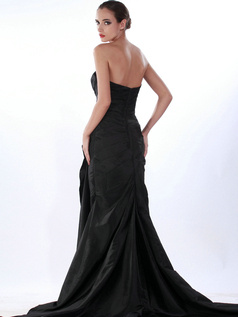 Noble Mermaid/Trumpet Taffeta Chapel Train Split Front Prom/Evening Dresses