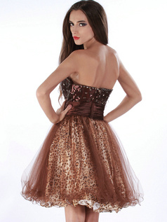 Snazzy A-line Sweetheart Short/Mini Print Prom/Cocktail Dresses