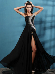 Amazing A-line One shoulder Split Front Prom/Evening Dresses
