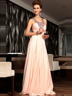 Sexy A-line Chiffon Jewel Draped Evening/Prom Dresses