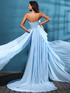 Brilliant A-line Chiffon Court Train Sequin Prom/Evening Dresses