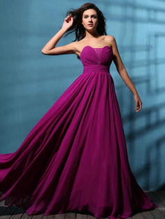Remarkable A-line Chiffon Floor-length Draped Prom/Evening Dresses