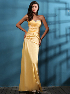 Graceful Sheath/Column Taffeta Sweetheart Floor-length Prom Dresses