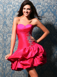 Snazzy Princess Taffeta Short/Mini Pick-Ups Sweet 16 Dresses
