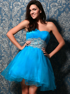 Glamorous A-line Tulle Sweetheart Short/Mini Homecoming Dresses