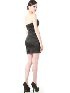 Intelligent Sheath/Column Elastic Woven Satin Short/Mini Cocktail/Prom Dresses