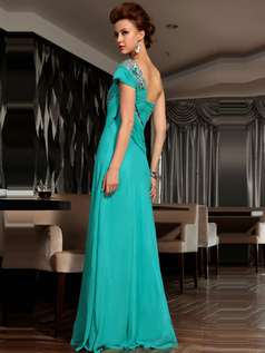 Appealing A-line One shoulder Floor-length Sequin Evening Dresses