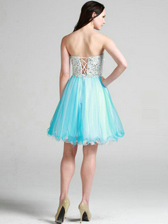 Appealing A-line Sweetheart Short/Mini Beading Sweet 16 Dresses