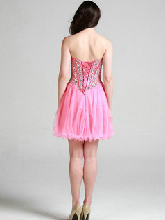 Appealing A-line Sweetheart Short/Mini Crystal Prom/Sweet 16 Dresses