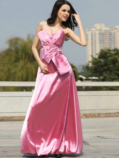 Appealing A-line Taffeta Strapless Floor-length Evening/Prom Dresses