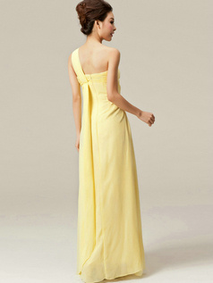 Beautiful A-Line One shoulder Flower Bridesmaid Dresses
