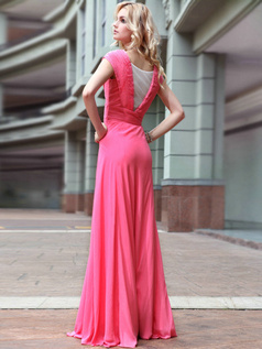 Beautiful Sheath/Column V-neck Floor-length Sequin Prom/Evening Dresses