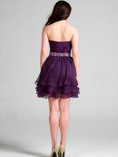 Elegant A-line Chiffon Sweetheart Short/Mini Cocktail/Sweet 16 Dresses