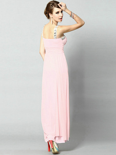 Elegant Sheath/Column Chiffon Sweetheart Crystal Evening/Prom Dresses