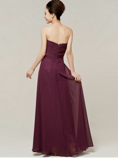 Elegant Sheath/Column Sweetheart Strapless Draped Bridesmaid Dresses