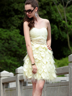 Fantasy Ball Gown Tulle Sweetheart Short/Mini Sweet 16/Cocktail Dresses