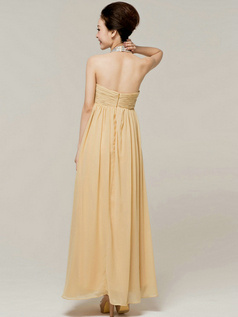Fantasy Sheath/Column Chiffon Halter Crystal/Rhinestone Prom/Evening Dresses