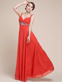 Gorgeous Sheath/Column Chiffon Sweetheart Straps Beading Sequin Evening Dress