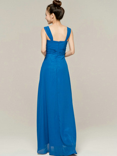 Graceful Sheath/Column Tube Top Straps Draped Bridesmaid Dresses