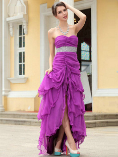 Lovely A-line Chiffon Sweetheart Sequin Evening Dress