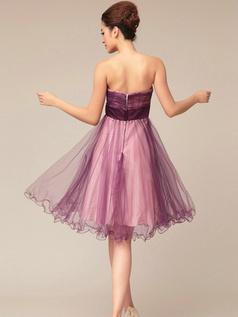 Lovely A-line Tulle Sweetheart Flower Short Prom/Cocktail Dresses