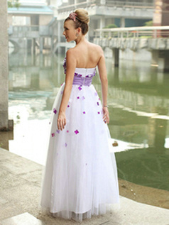 Lovely Princess Tulle Tube Top Flower Evening/Prom Dresses