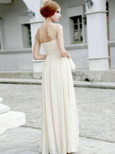 Lovely Sheath/Column Square Floor-length Beading Evening/Prom Dresses